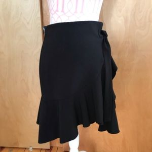 Dresses & Skirts - Faux Wrap Front Asymmetric Ruffle Mini Skirt